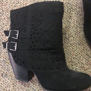 Women's black ankle boots.  Size 7 1/2